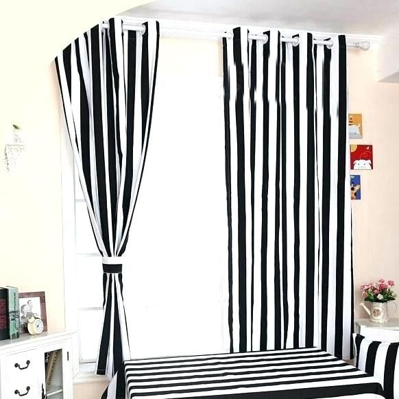 Shiny Black And White Vertical Striped Curtains Snapshots New Black And White Vertical Striped Curtains And Q9834621 Briliant Black White Striped Curtains Catc
