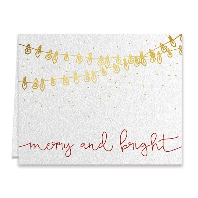 Merry and Bright Lights Boxed Holiday Cards Raffa All things