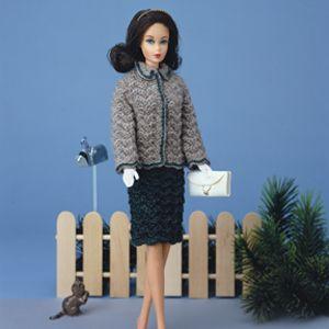 Fashion doll ripple suit crochet pattern