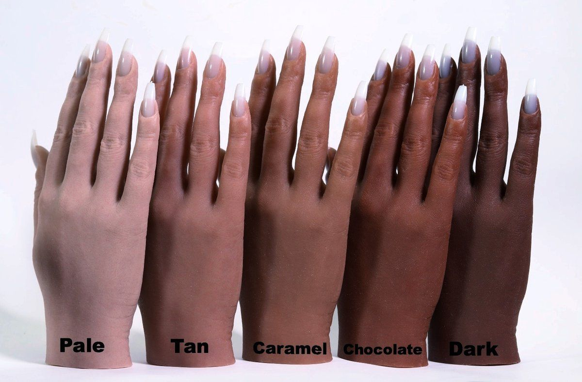Half Silicone Practice Hand For Nail Art And Acrylic Hard Gel Techniques Available In 2 Types Regular 100 Silicone Fully Flex Hard Gel Practice Hands