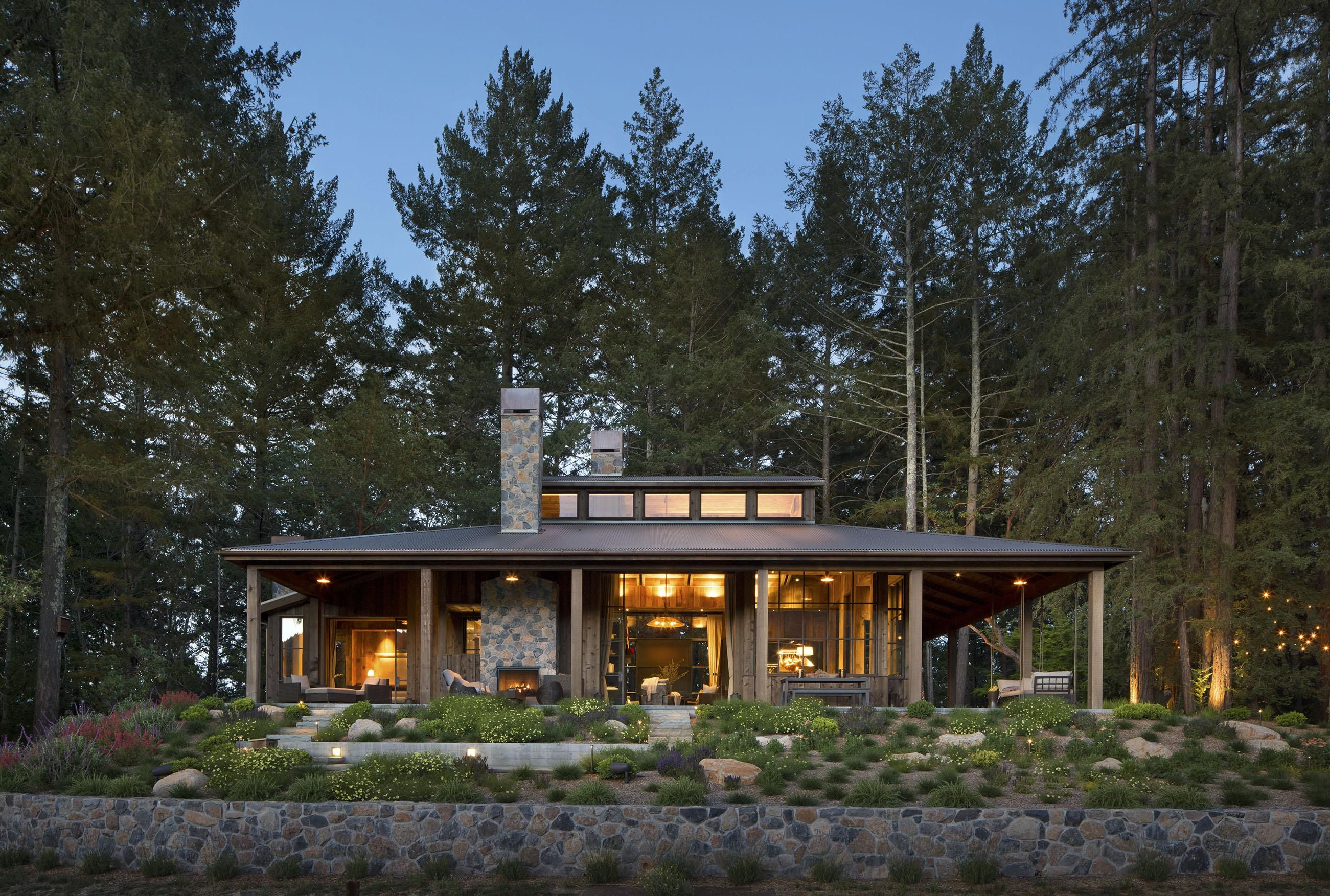 House Tour: A Modern Cabin in St. Helena | Pinterest | Saint helena ...