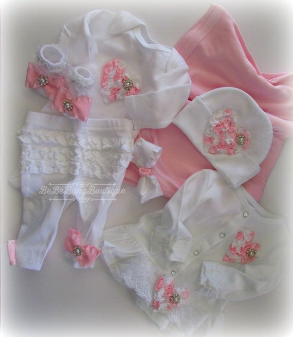 1c8bdd19a Complete Newborn Baby Girl Take home clothing set