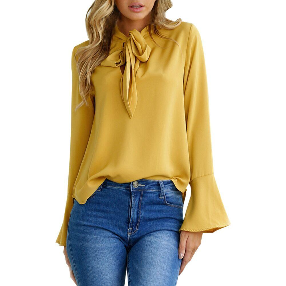 c03b89e5091e13 Elegance - This Blouse will take you from the day at the office to date  night