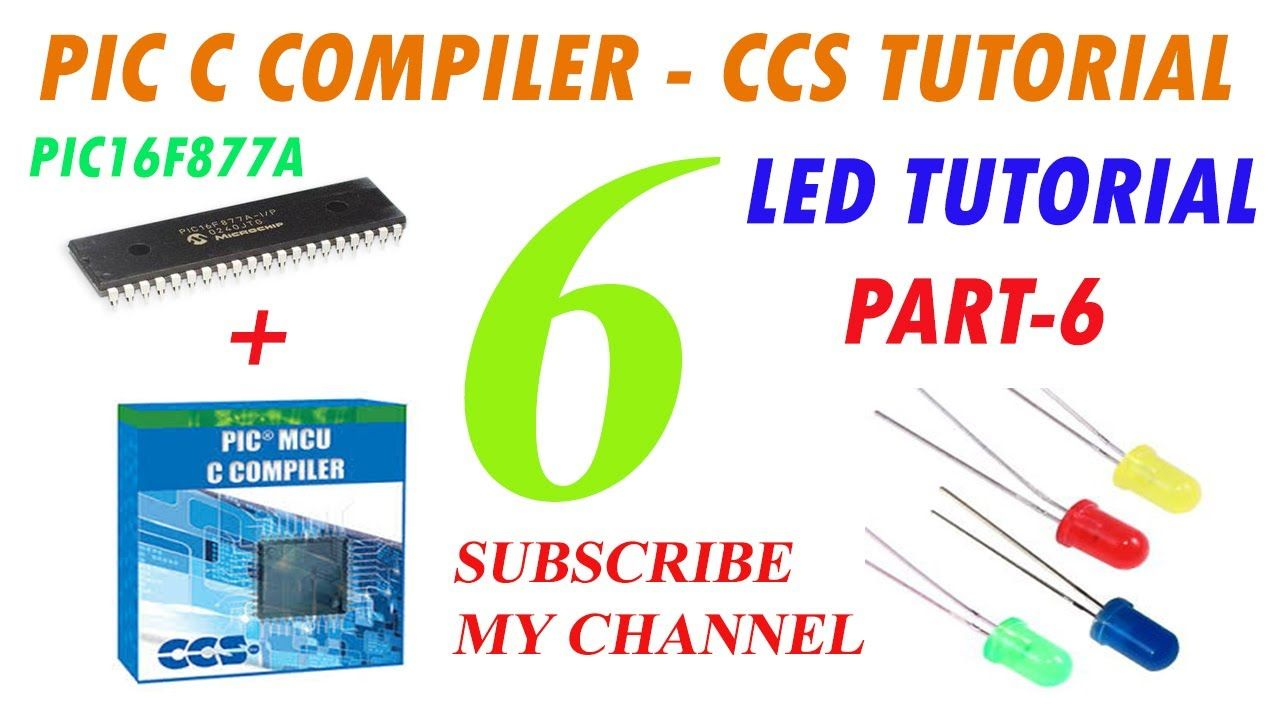 Embedded C Tutorial BIT Wise LED Blinking with PIC16F877A