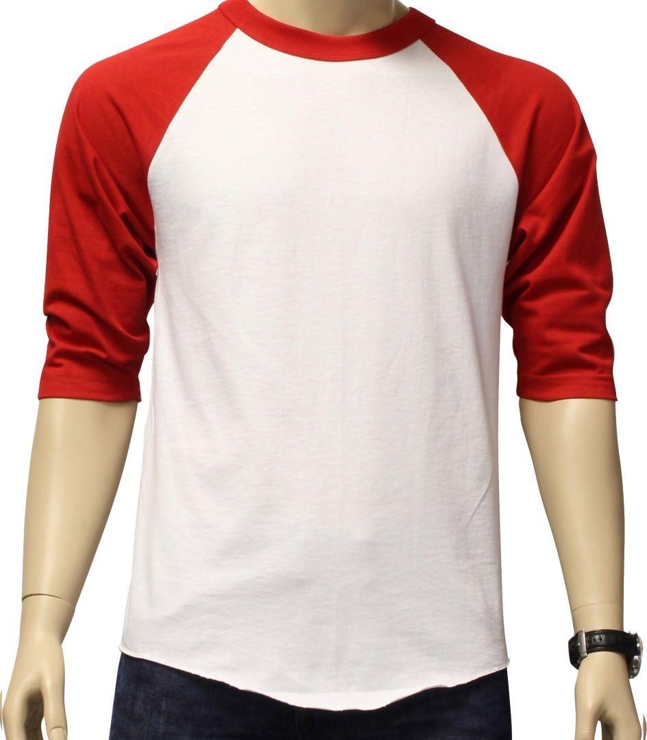 New 3/4 Sleeve Raglan Baseball Mens Plain Tee Jersey Team Sports T-Shirt