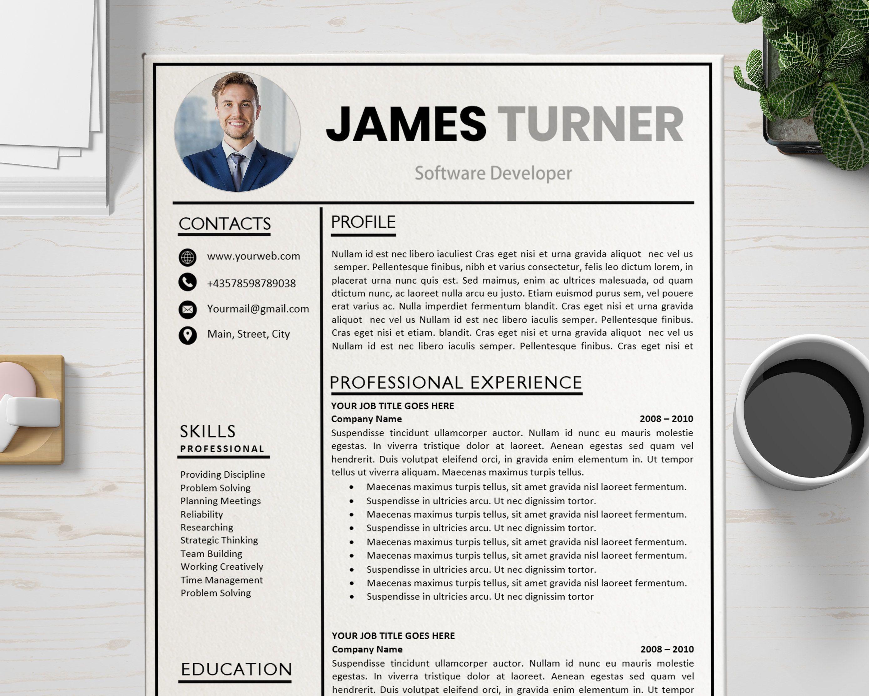 Creative resume template professional cv format modern