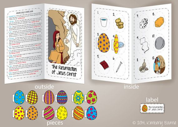Lds Coloring Pages Pdf : The resurrection of jesus christ easter file folder game and
