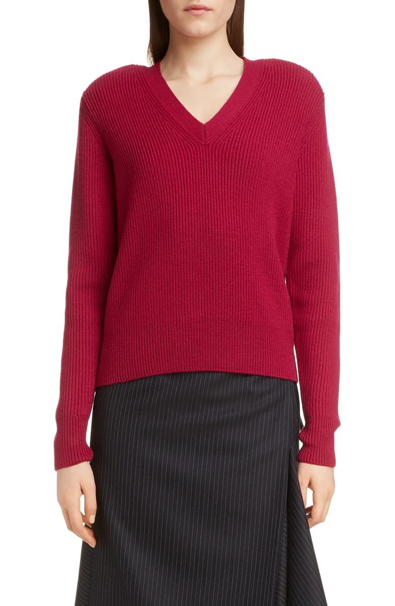 Free Shipping And Returns On Dries Van Noten Tena Ribbed Merino Wool Sweater At Nordstrom Com S Wool Sweaters Womens Fashion Clothes Women Merino Wool Sweater