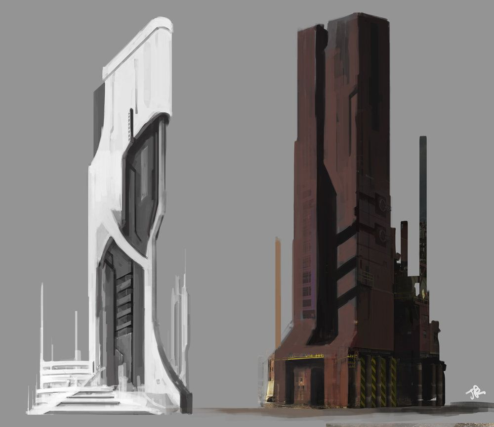 Personal work jade kwon enviroment concept for Architettura moderna case
