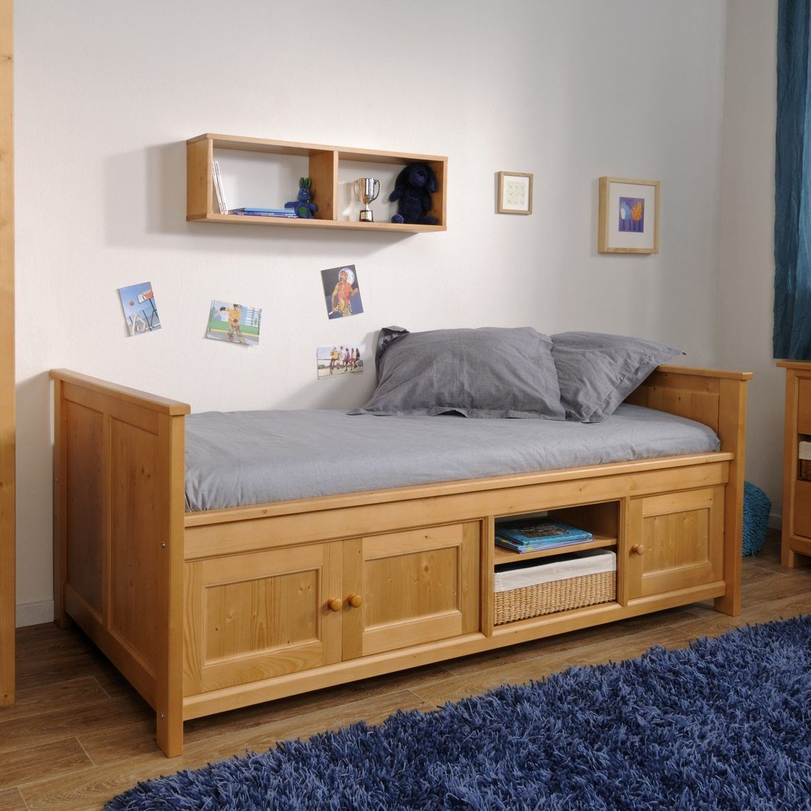 Kids Solid Pine Bed Frame Under Bed Storage Kids Beds With Is Also A