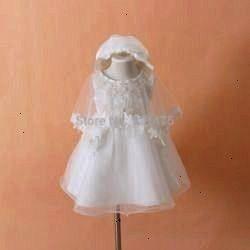 Christening Gown Infant Girls White Princess Lace Baptism Dress Toddler Baby Girl Chiffon Dresses 3pcsset Online Shop 2015 Neonato Abito da battesimo Vestito da battesimo...