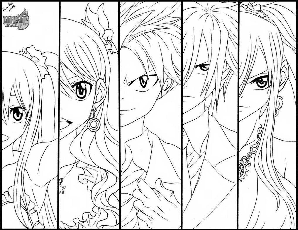 Fairy Tail Malvorlagen Sketsa