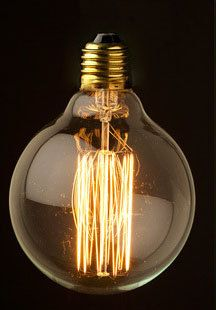 1 Antique Vintage Edison Style Light Bulb 40w 220v Radiolight Large G95ii Squirrel Cage Special 14 94 Via Etsy
