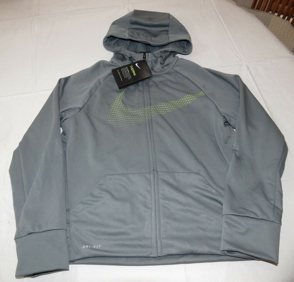 Boys nike dri fit therma fit m youth 858245 065 grey