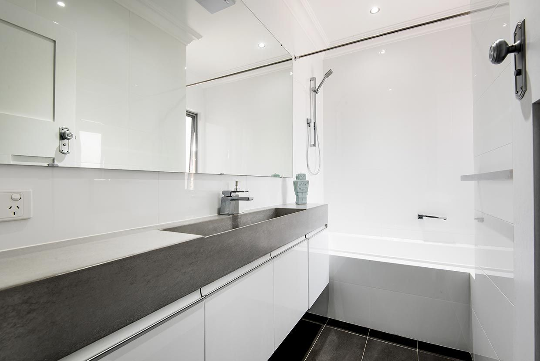 Concrete ramp sink and vanity. || Perth, Western Australia ...
