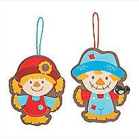 Big Head Scarecrow Ornament Craft Kit - 13747381