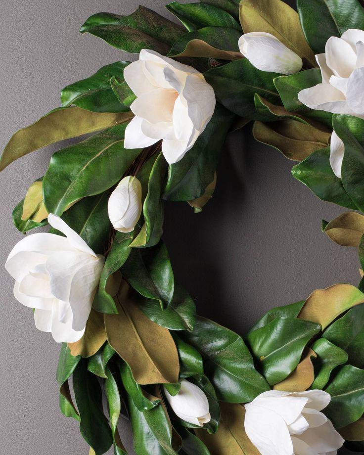 Photo of Magnolia flower arrangement & wreath