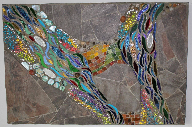 Mosaic Mixed Media Glass Water By Glassartsstudio On Etsy