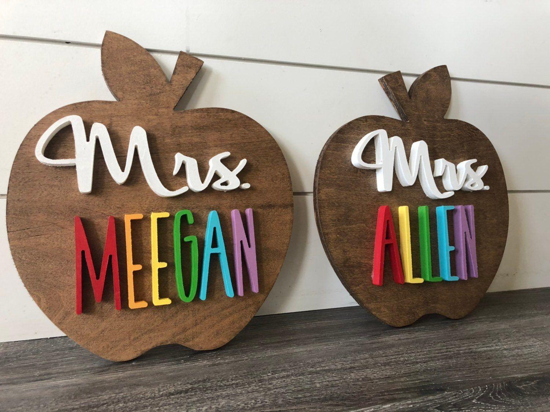 Teacher gifts + teacher name wood sign + custom teacher