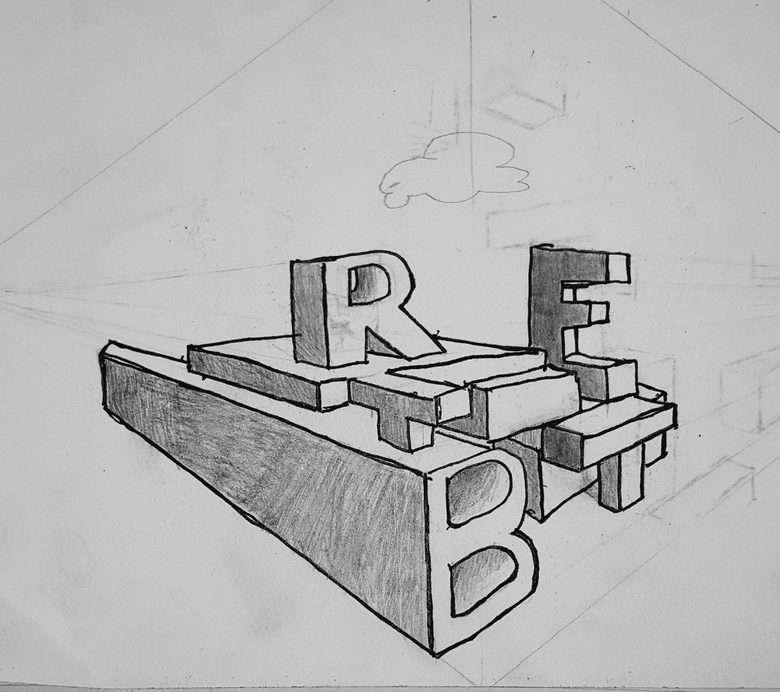 Brett 2 Point Perspective Name 7th