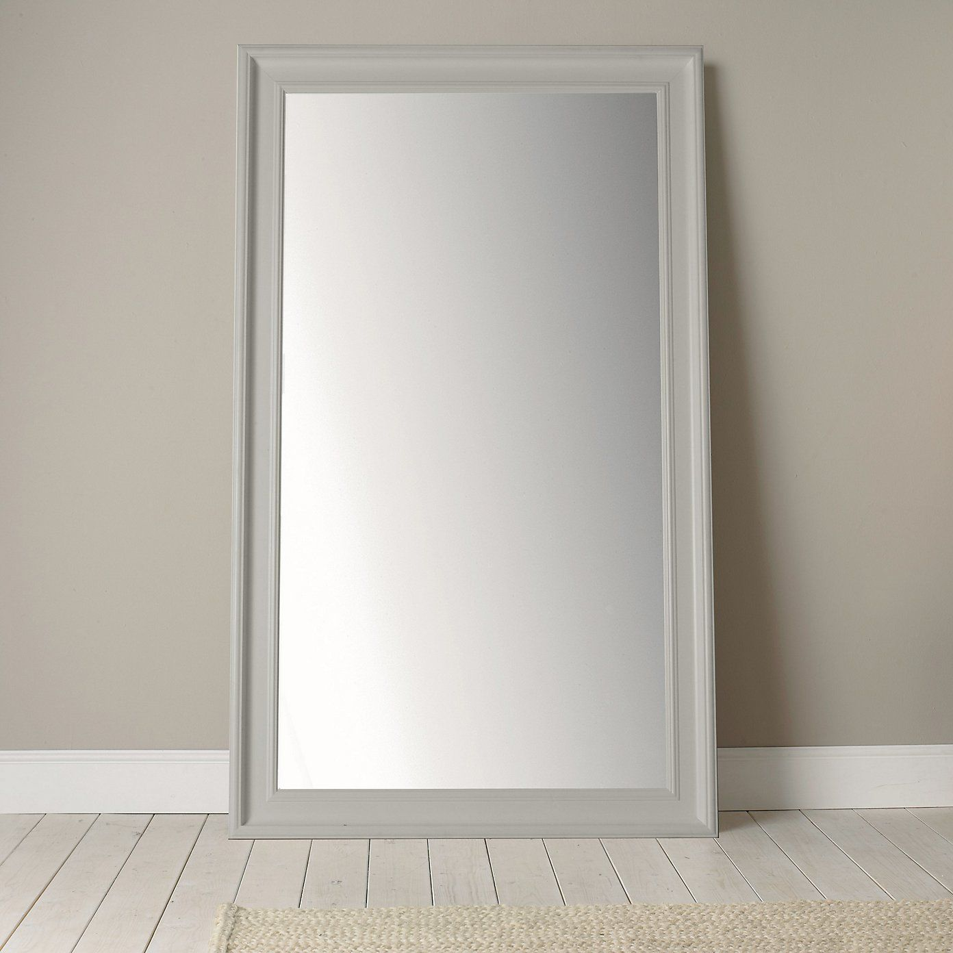 Portland Wide Full Length Mirror Grey From The White Company White Bedroom Furniture Grey Walls Grey Wall Mirrors Wide Full Length Mirror
