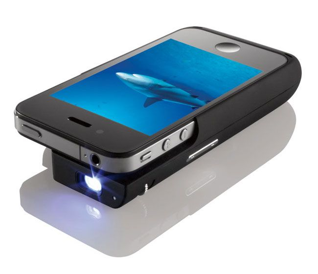 iPhone Projector. Great for movie night with a crowd.