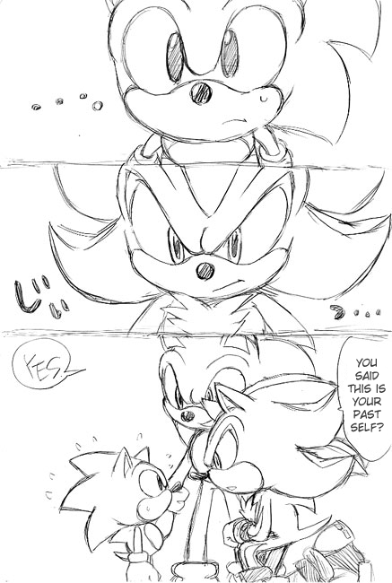 Classic can finally speak in one. Hey shadow! Sonic said.  *Shadow looked up* Oh, hey who's that with you. Shadow said. This is Classic Sonic. He said. What. Shadow said. Classic Me, the timeline was messed up and we met at the first Stage: Green Hill Zone. Part 1 of 5 end.