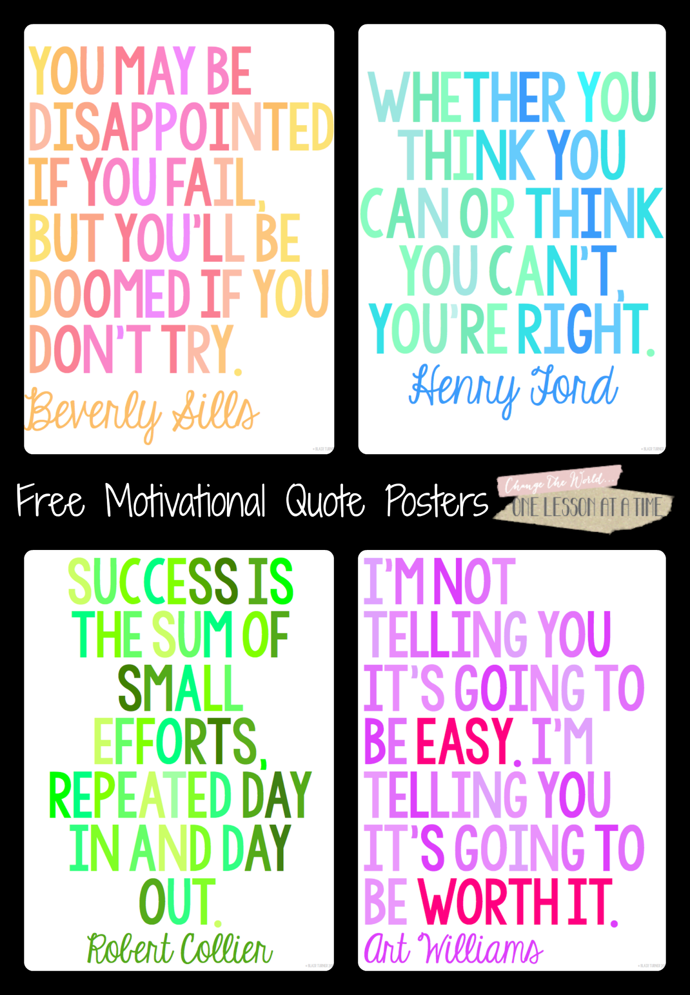 Motivational Quotes For State Testing Free Posters