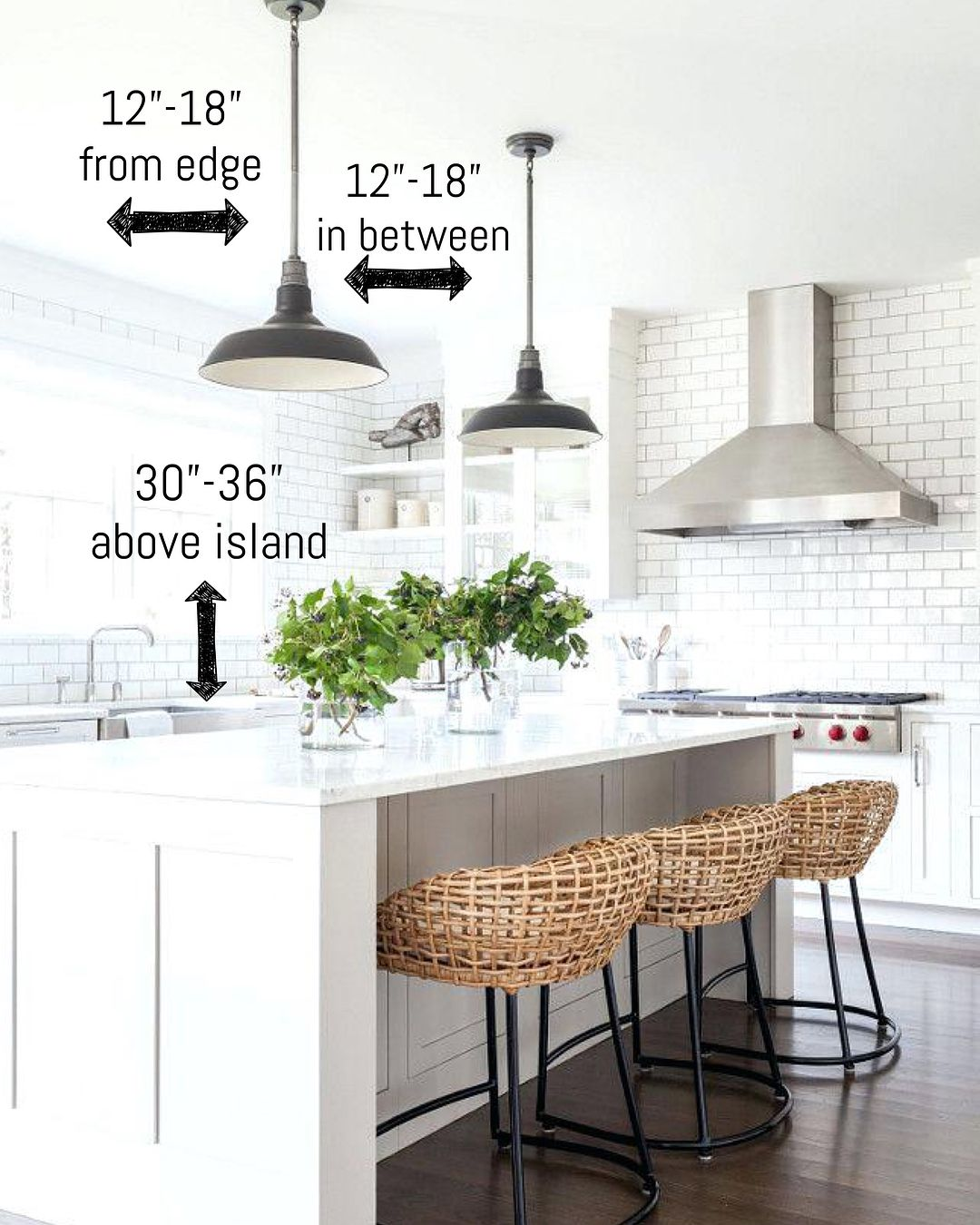 I absolutely love the look of pendant lights over kitchen islands