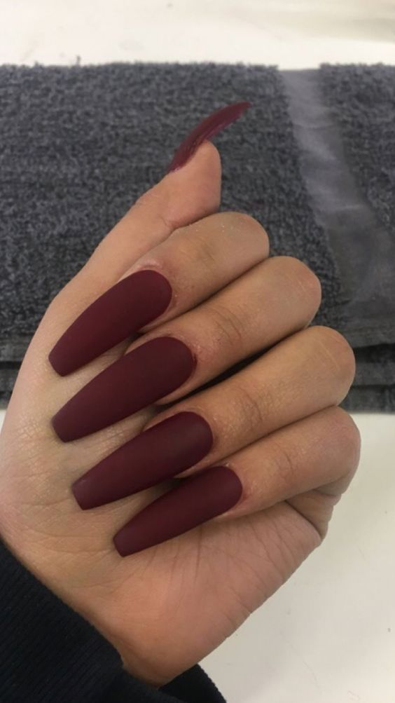 42 Coffin Acrylic Nail Ideas With Different Colors That Youll Want