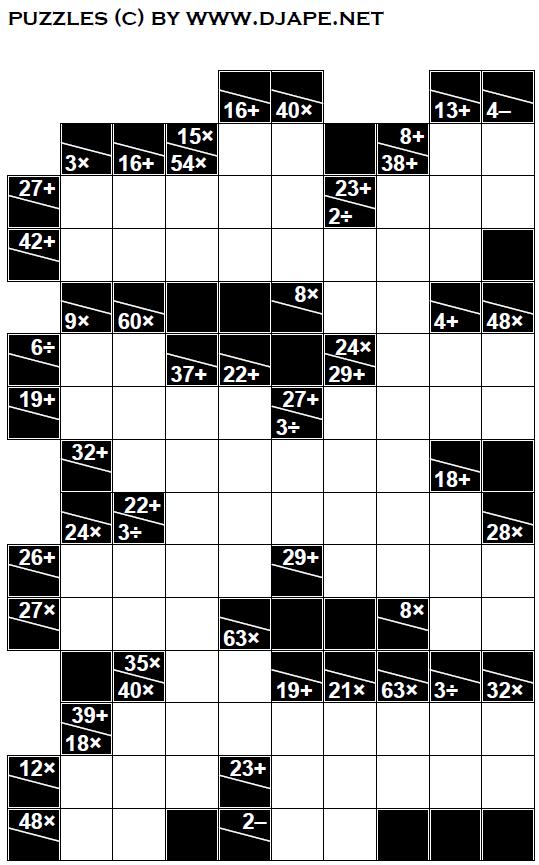 graphic relating to Kakuro Printable called Pin upon Puzzles