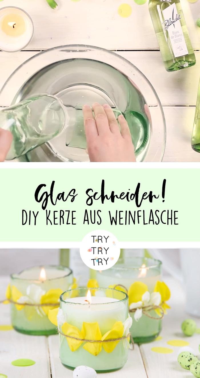 Photo of Geschenk für Ostern: Frühlingskerze und aus  Weinflaschen