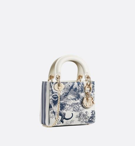 5d91c711d47a95 Christian Dior - Mini Lady Dior Toile de Jouy bag | BAGS in 2019 ...