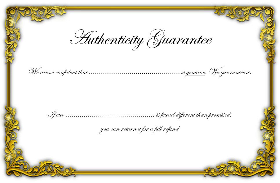 Free Certificate Of Authenticity Jewellery Template Gold In 2021 Jewelry Template Certificate Design Template Certificate Templates