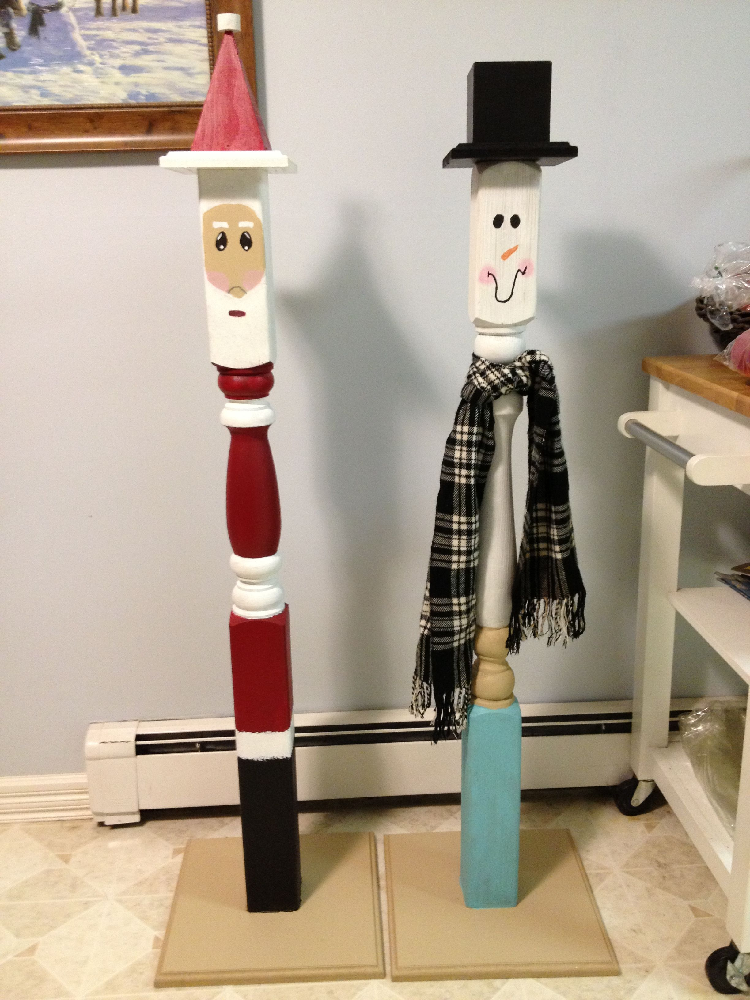 Santa, snowman craft...so simple Christmas wood crafts