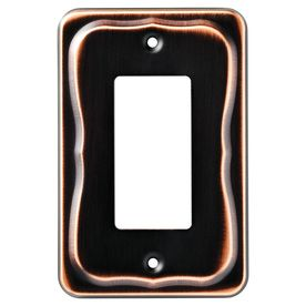 Wall Plates Lowes Brainerd 1Gang Bronze With Copper Highlights Decorator Rocker Metal