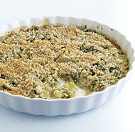 Pan-Roasted Brussels Sprout Gratin with Shallots and Rosemary