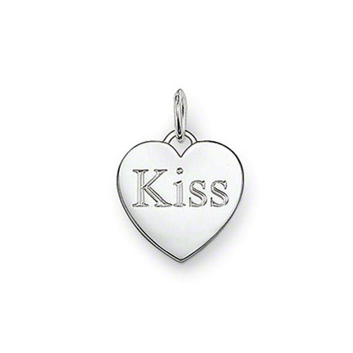 """PE437 Heart """"Kiss"""" Pendant"""