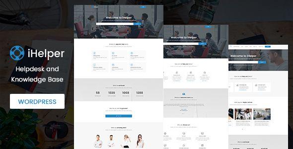 iHelper - Helpdesk and Knowledge Base WordPress Theme by timothemes ...