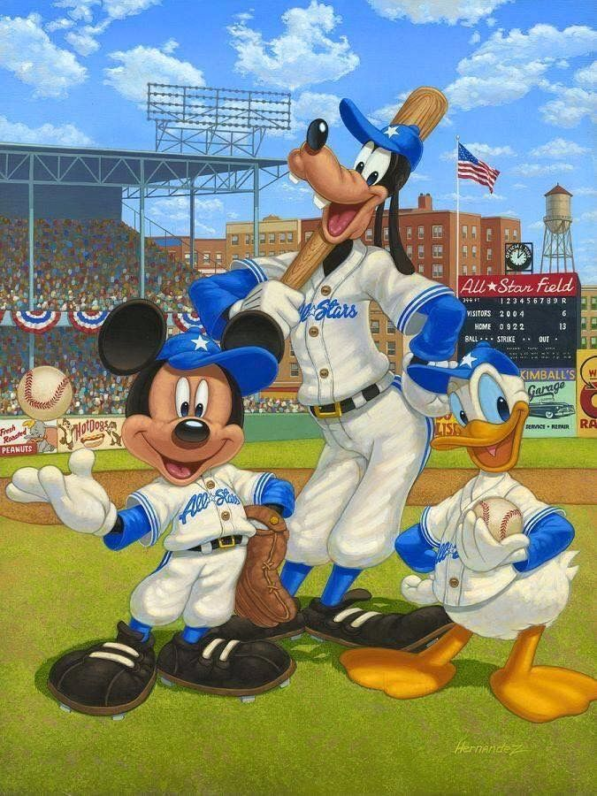 Mickey baseball iPhone Disney Cartoon