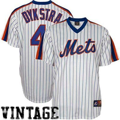 new style 639f3 224aa Majestic Lenny Dykstra New York Mets Replica Cooperstown ...