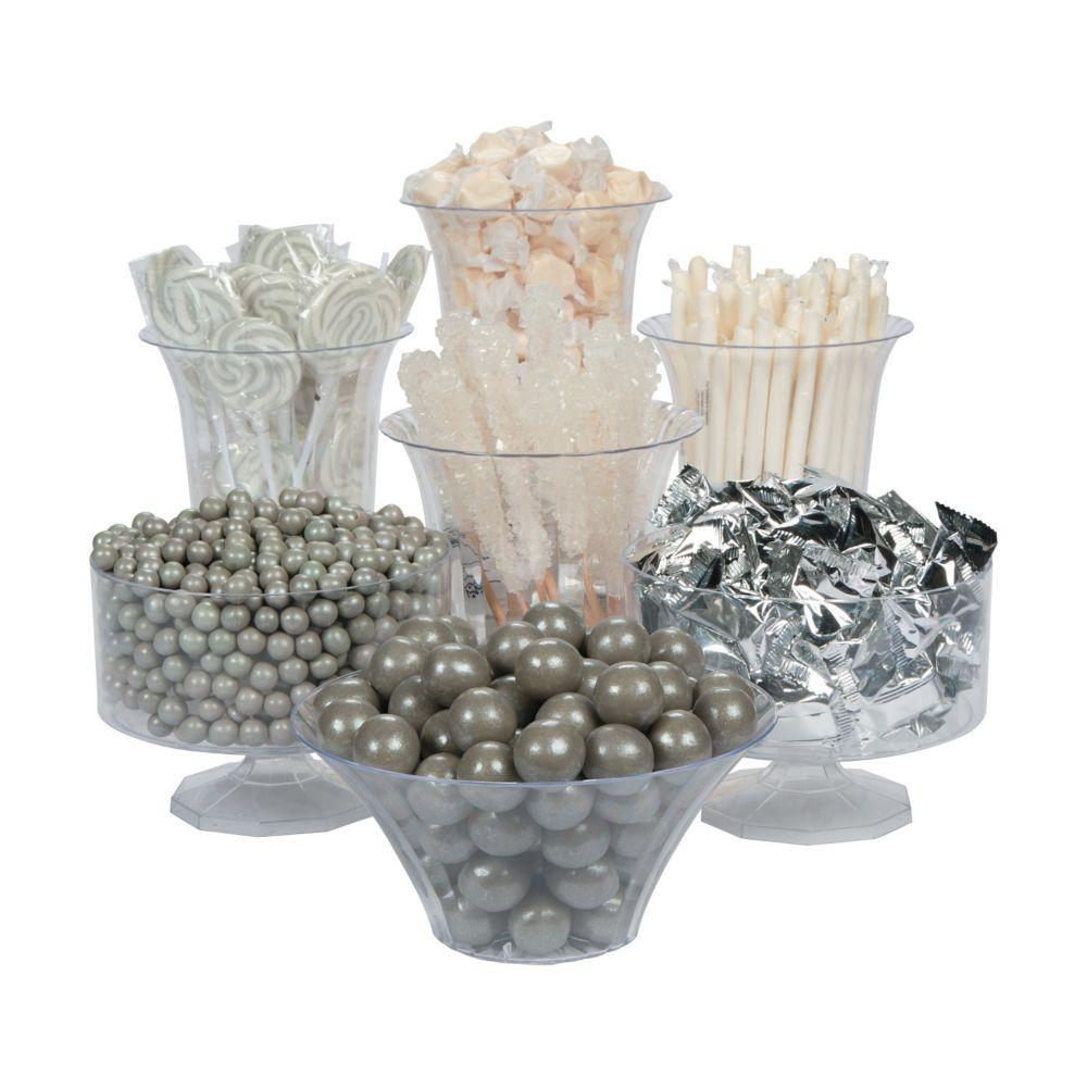 Silver & White Candy Buffet Assortment