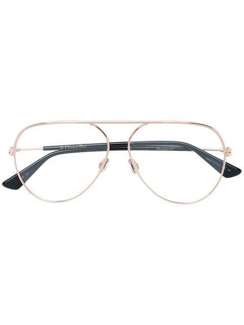a78bcd62989c Dior Eyewear Essence Aviator Glasses - Farfetch