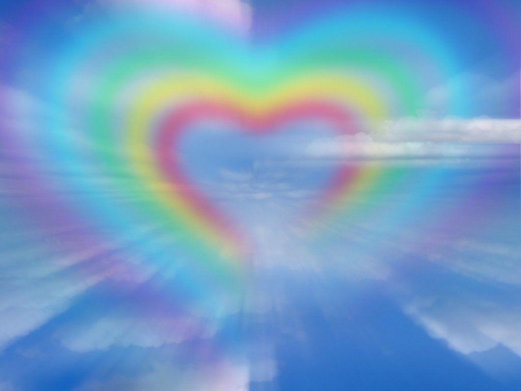 Download Rainbow Heart Cute Wallpaper 1024x768 Hd Wallpapers