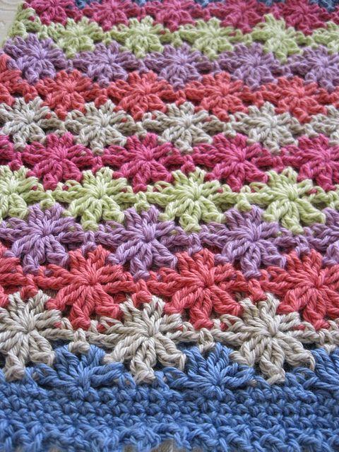 Floreal top, crocheted in BWM 8ply cotton | Manta, De colores y Tejido