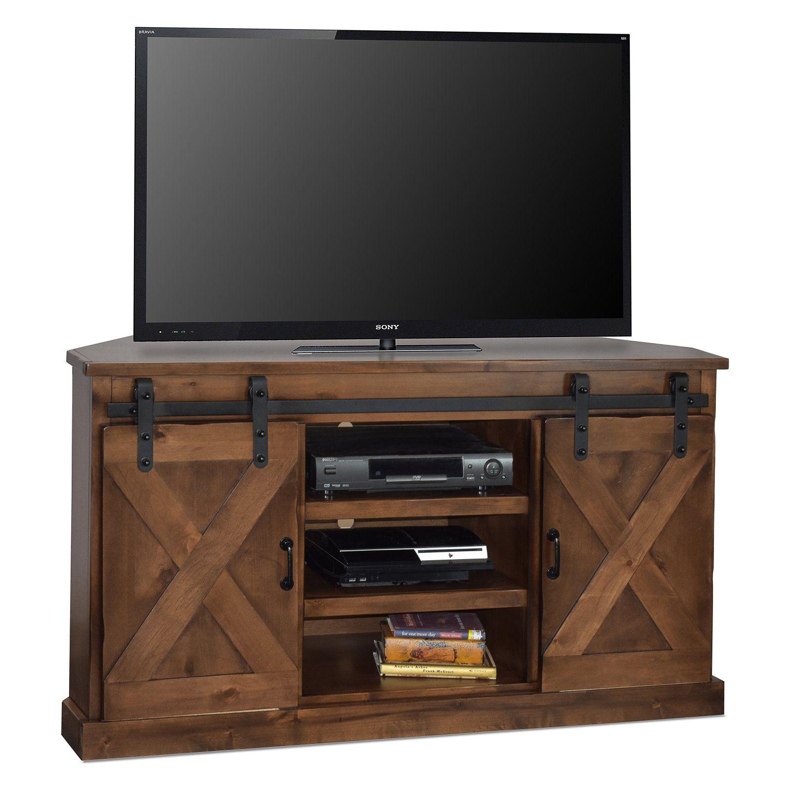 Legends Furniture Farmhouse Corner TV Console Corner tv