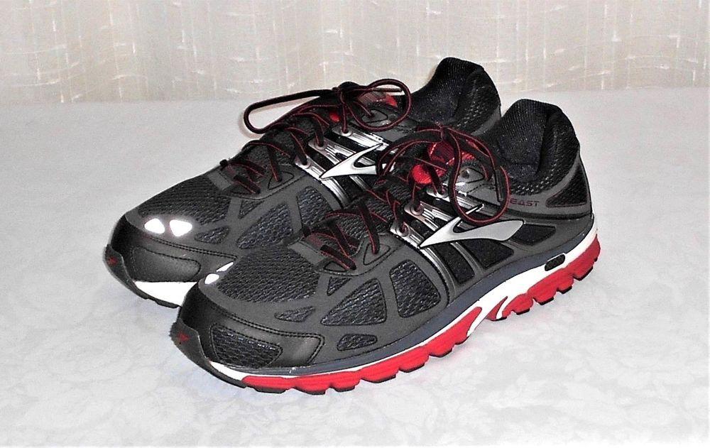 89740657976 Brooks Beast 14 Charlcoal Black Red Running Oxford Shoe Men Euro 48.5 US 14  4E  Brooks  RunningOxfordShoe