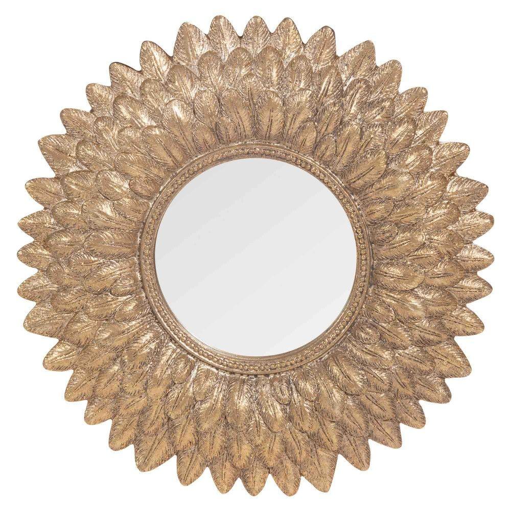 Miroir rond dor h 22 cm miroir rond maison du monde et - Miroir rond dore ...