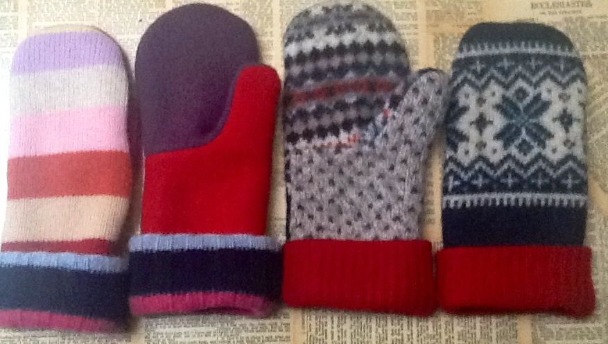Felted Wool Sweater Mittens-recycled  https://www.etsy.com/shop/TreasuredHeart?ref=si_shop