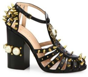 320e7ac56 Gucci Kendall Studded Leather Sandals